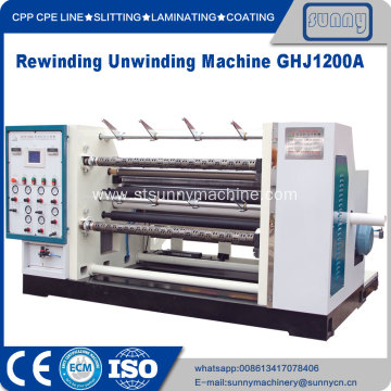 Hdpe plastic film slitting rewinding machine